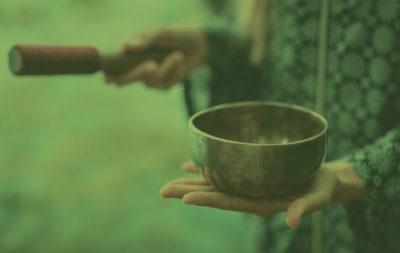 background-meditation-tibetan-bowl-green-overlay